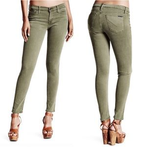 HUDSON | Natalie Midrise Ankle Green Skinny Jeans